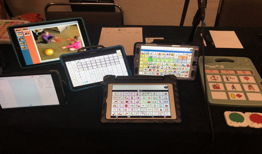 Six different types of AAC devices.