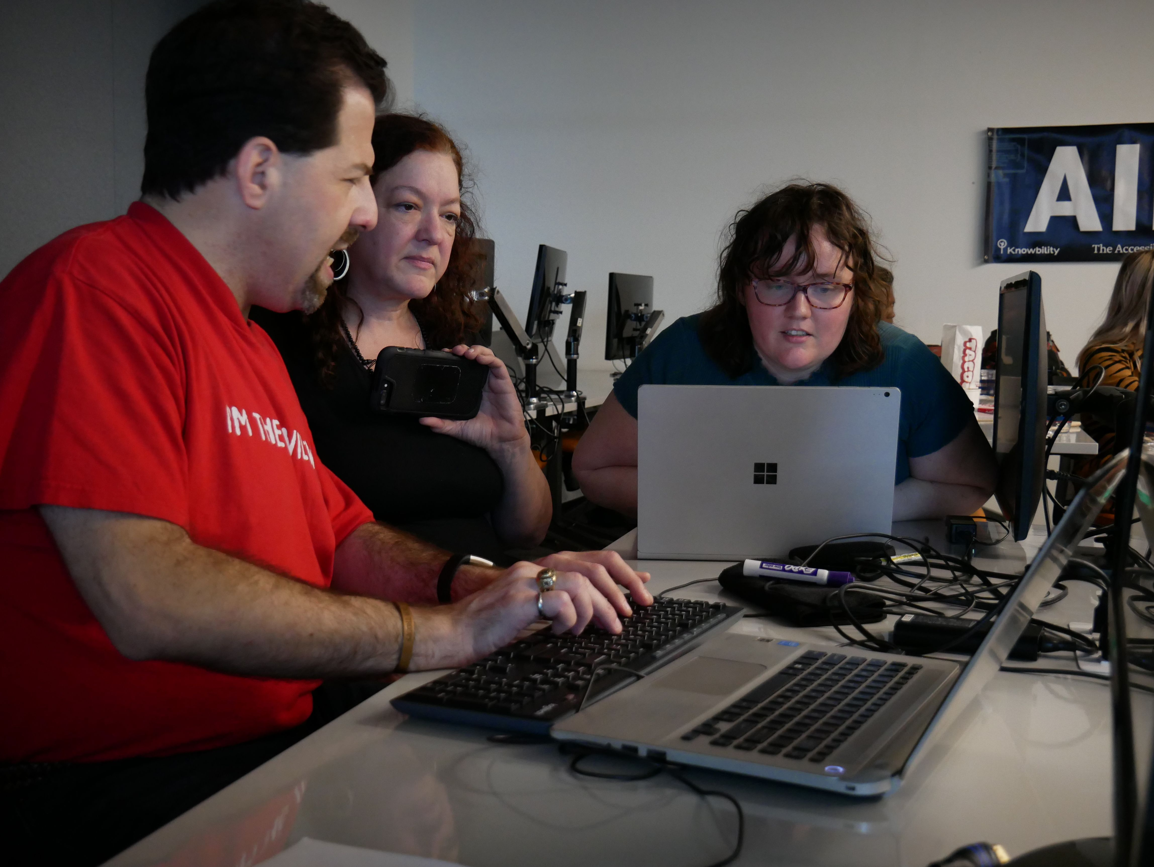 People testing site development as a part of the Accessibility Internet Rally