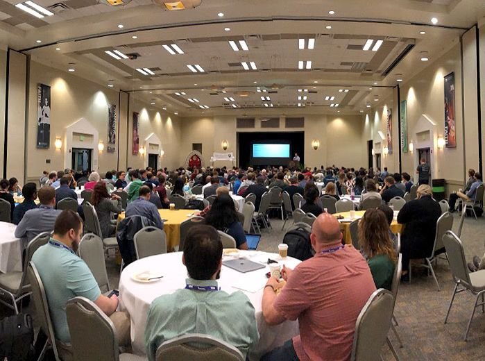 A packed room for an AccessU Keynote presentation