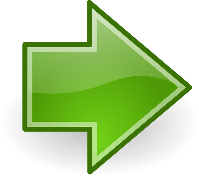 right pointing arrow