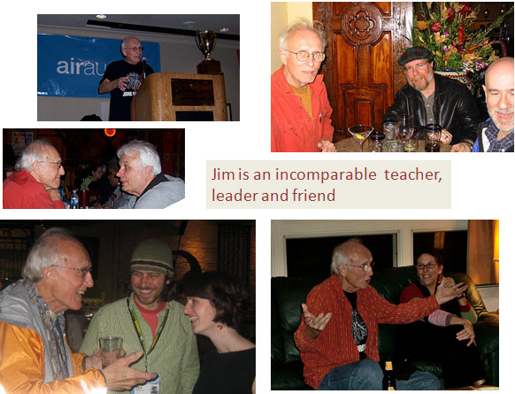 Collage of photos showing Jim Thatcher as an incomparable accessibility leader, teacher, advocate and friend.
