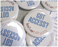 Knowbility swag buttons